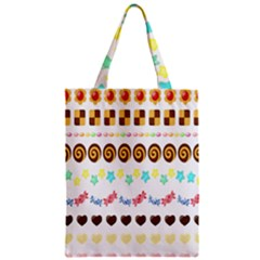Sunflower Plaid Candy Star Cocolate Love Heart Zipper Classic Tote Bag