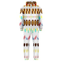 Sunflower Plaid Candy Star Cocolate Love Heart Hooded Jumpsuit (men)
