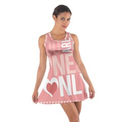 Valentines Day One Only Pink Heart Cotton Racerback Dress