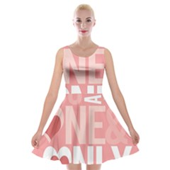 Valentines Day One Only Pink Heart Velvet Skater Dress