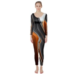 Fractal Structure Mathematic Long Sleeve Catsuit