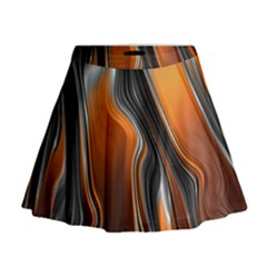 Fractal Structure Mathematic Mini Flare Skirt