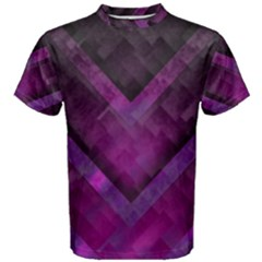 Purple Background Wallpaper Motif Design Men s Cotton Tee