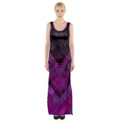 Purple Background Wallpaper Motif Design Maxi Thigh Split Dress by Amaryn4rt