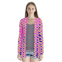 Triangle Pink Blue Cardigans