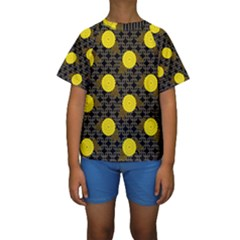 Sunflower Yellow Kids  Short Sleeve Swimwear