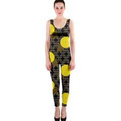 Sunflower Yellow Onepiece Catsuit