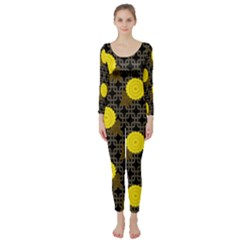 Sunflower Yellow Long Sleeve Catsuit