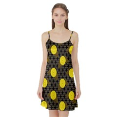 Sunflower Yellow Satin Night Slip