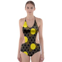 Sunflower Yellow Cut Out One Piece Swimsuit