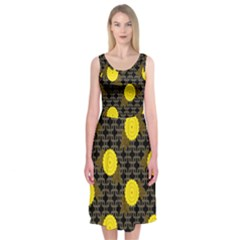Sunflower Yellow Midi Sleeveless Dress