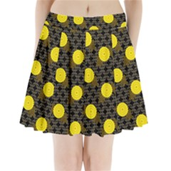 Sunflower Yellow Pleated Mini Skirt