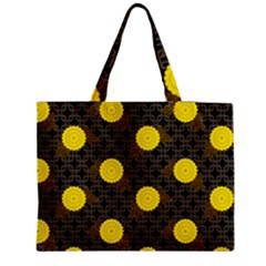 Sunflower Yellow Medium Zipper Tote Bag