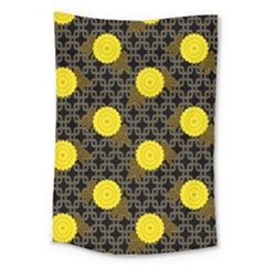 Sunflower Yellow Large Tapestry