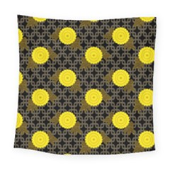 Sunflower Yellow Square Tapestry (large)