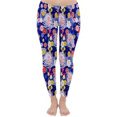 Season Flower Arrangements Purple Classic Winter Leggings