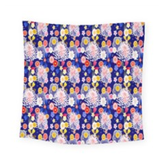 Season Flower Arrangements Purple Square Tapestry (small)