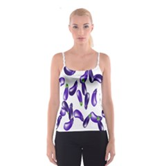 Vegetables Eggplant Purple Spaghetti Strap Top by Alisyart