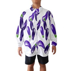 Vegetables Eggplant Purple Wind Breaker (kids)