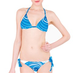 Water Round Blue Bikini Set