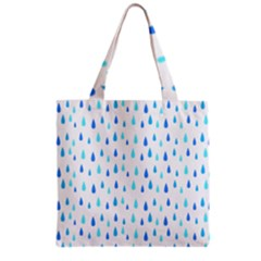 Water Rain Blue Grocery Tote Bag by Alisyart