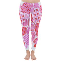 Valentines Day Pink Heart Love Classic Winter Leggings