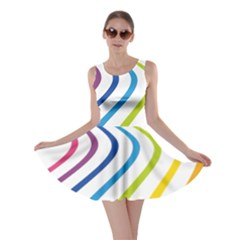 Wave Rainbow Skater Dress