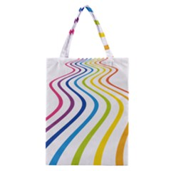 Wave Rainbow Classic Tote Bag