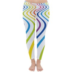 Wave Rainbow Classic Winter Leggings