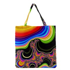 Wave Color Grocery Tote Bag by Alisyart