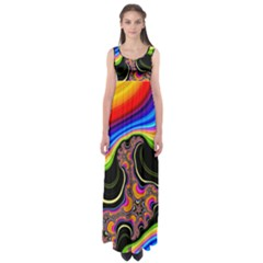 Wave Color Empire Waist Maxi Dress