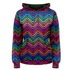Wave Chevron Rainbow Color Women s Pullover Hoodie