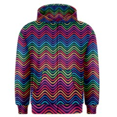 Wave Chevron Rainbow Color Men s Zipper Hoodie