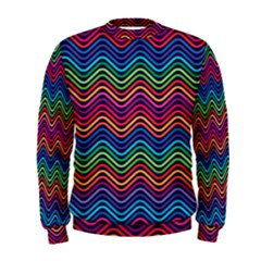 Wave Chevron Rainbow Color Men s Sweatshirt