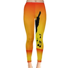 Breakdancer Dancing Orange Classic Winter Leggings