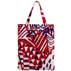 Bright  Memphis Purple Triangle Classic Tote Bag by Alisyart