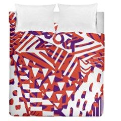 Bright  Memphis Purple Triangle Duvet Cover Double Side (queen Size)