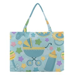 Baby Stroller Star Blue Medium Tote Bag by Alisyart