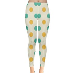 Circle Blue Orange Classic Winter Leggings