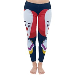 Clown Face Red Yellow Feat Mask Kids Classic Winter Leggings