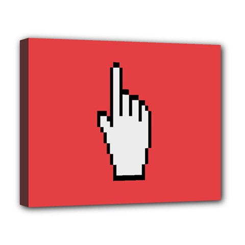 Cursor Index Finger White Red Deluxe Canvas 20  X 16