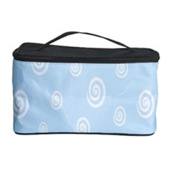 Circle Blue White Cosmetic Storage Case