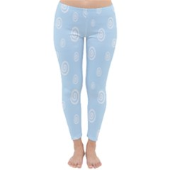 Circle Blue White Classic Winter Leggings