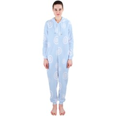 Circle Blue White Hooded Jumpsuit (ladies)
