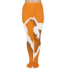 Dance Dancing Orange Girl Women s Tights