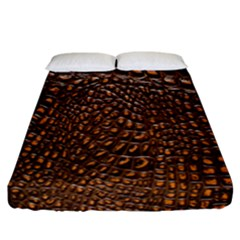 Crocodile Skin Fitted Sheet (california King Size) by Alisyart