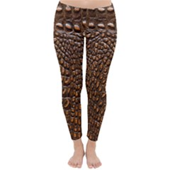 Crocodile Skin Classic Winter Leggings