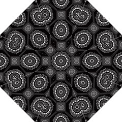 Circle Plaid Black Floral Folding Umbrellas by Alisyart