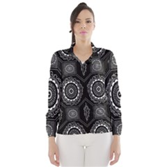Circle Plaid Black Floral Wind Breaker (women)