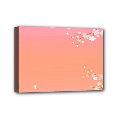 Flower Season Pink Purple Red Mini Canvas 7  X 5